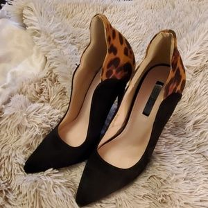Beautiful black and leopard Lost Ink heels
